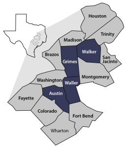 Bluebonnet GCD Map